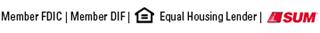 Member FDIC | Member DIF | Equal Housing Lender | SUM